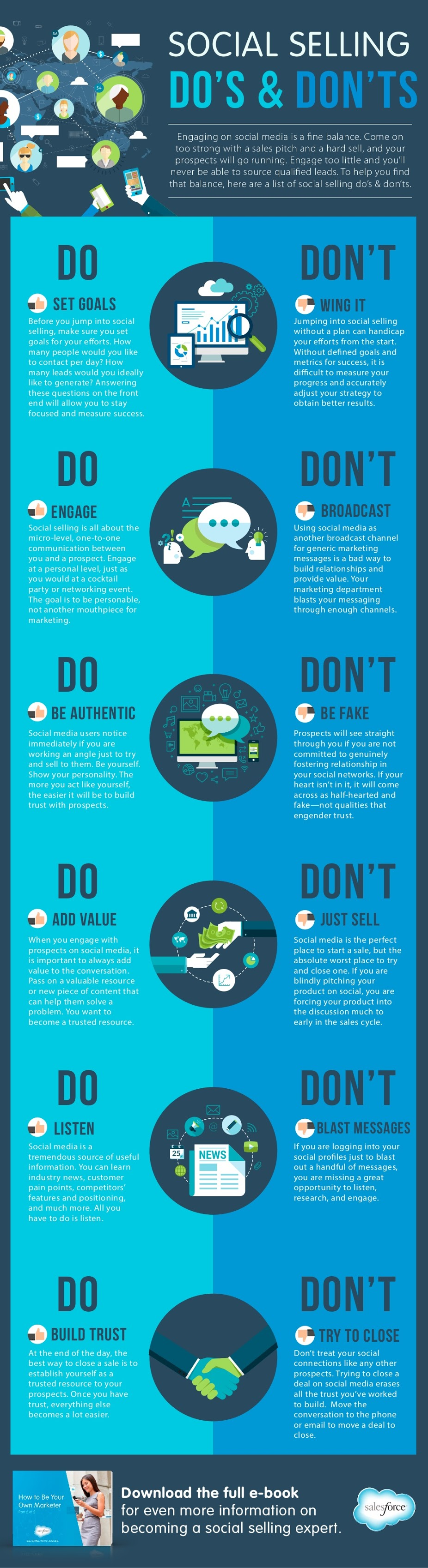 12 Do's And Don'ts Of Social Selling [Infographic]